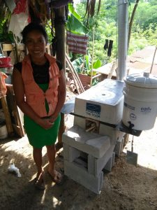 Ana Perez Ramirez with her Ecostove and Ecofilter