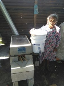 Dora Recinos Lopez Mother and their Ecostove and Ecofilter