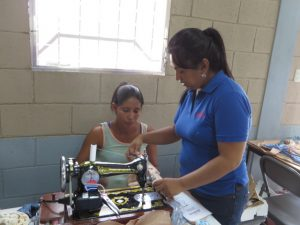 Teaching how to use the machine to a student