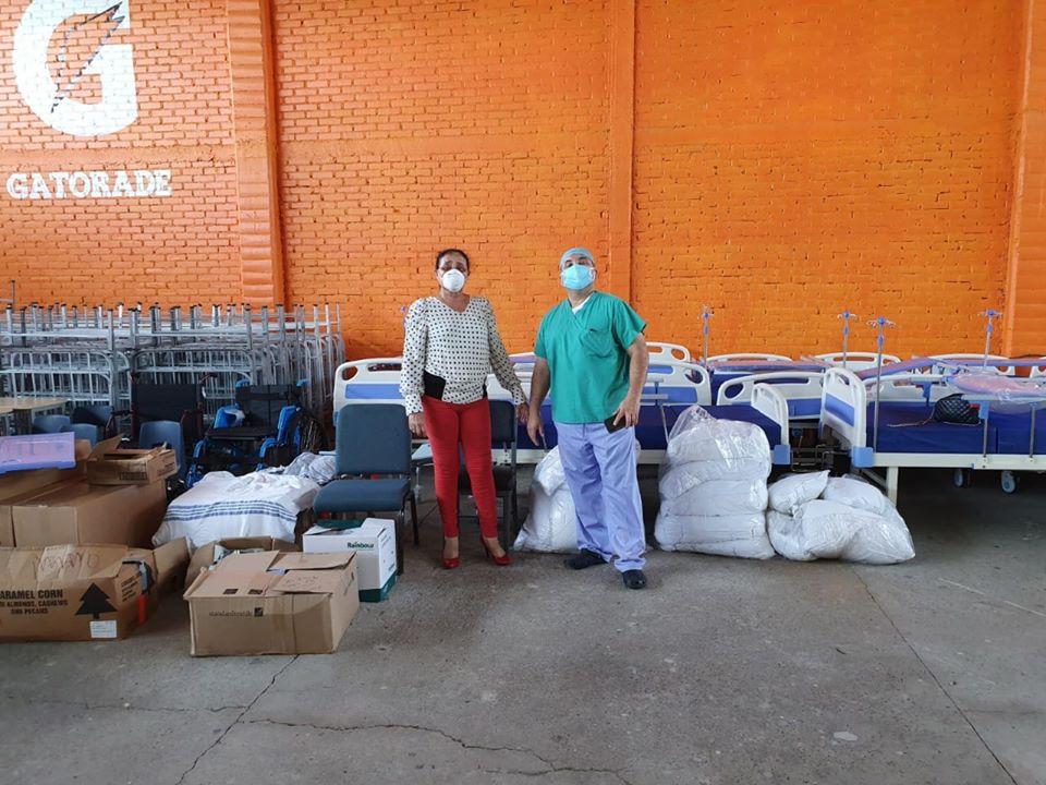 Donación de equipo de bioseguridad e insumos al triaje de San Lorenzo, Valle