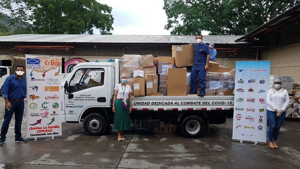 Distribución de un contenedor de suministros a hospitales en Honduras