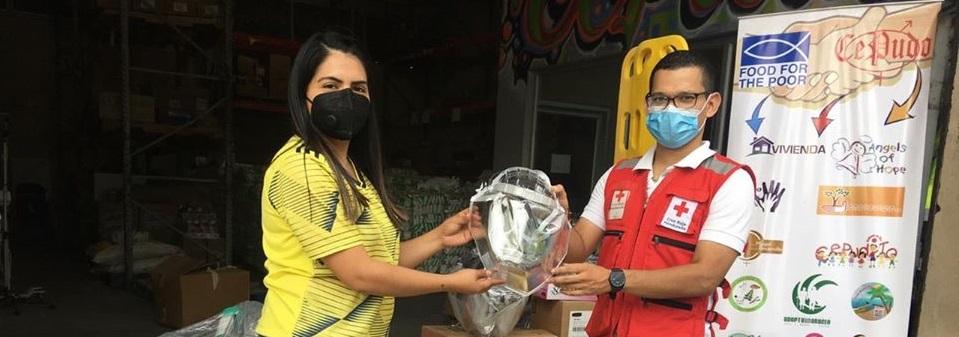 Donación de equipo de bioseguridad a la Cruz Roja Hondureña
