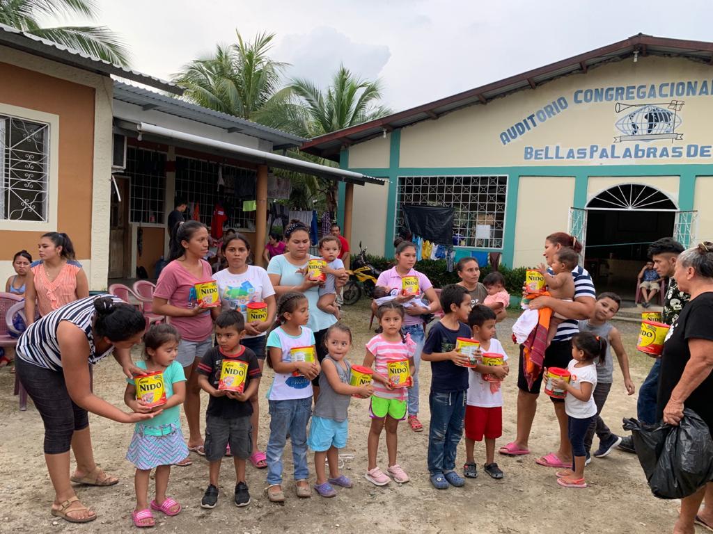 Agradecimiento a la generosidad de Nestle Hondureña S.A
