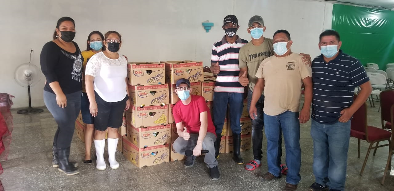 Delivery of Donation of 100 boxes of the Dole Honduras in Chamelecón Sector