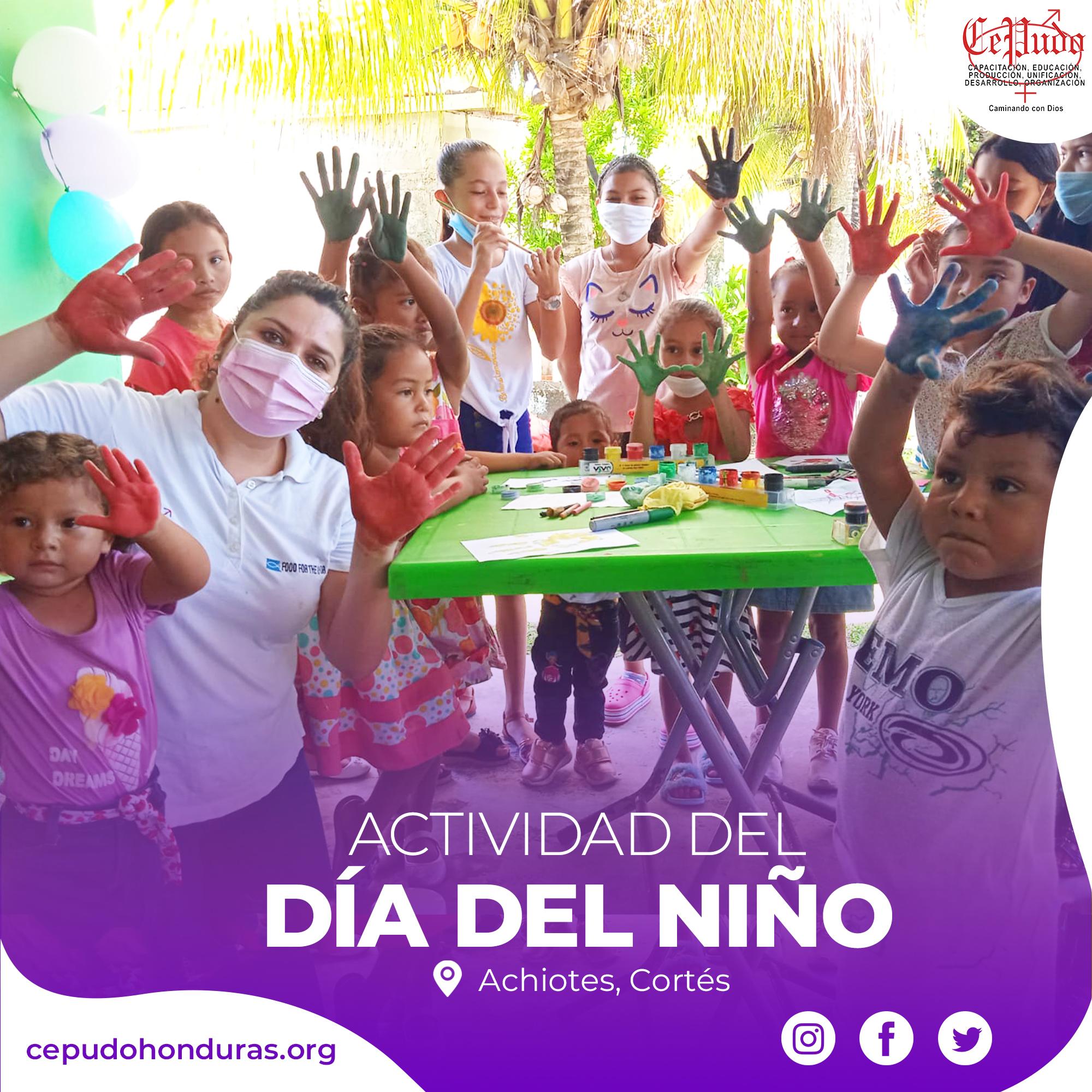 Children's Day Celebration in Los Achiotes, Cortés