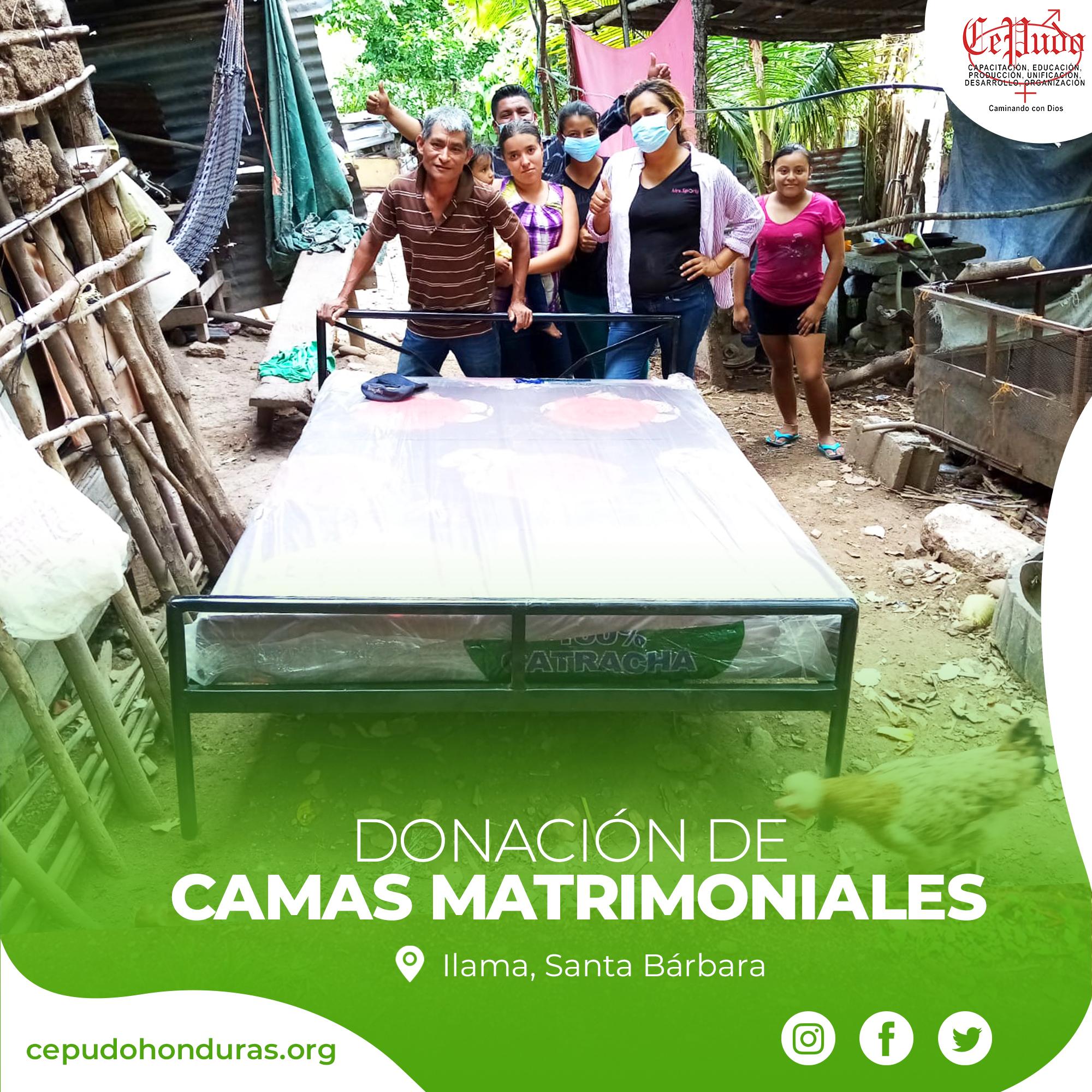 Donation of Double Beds (Ilama, Santa Bárbara)