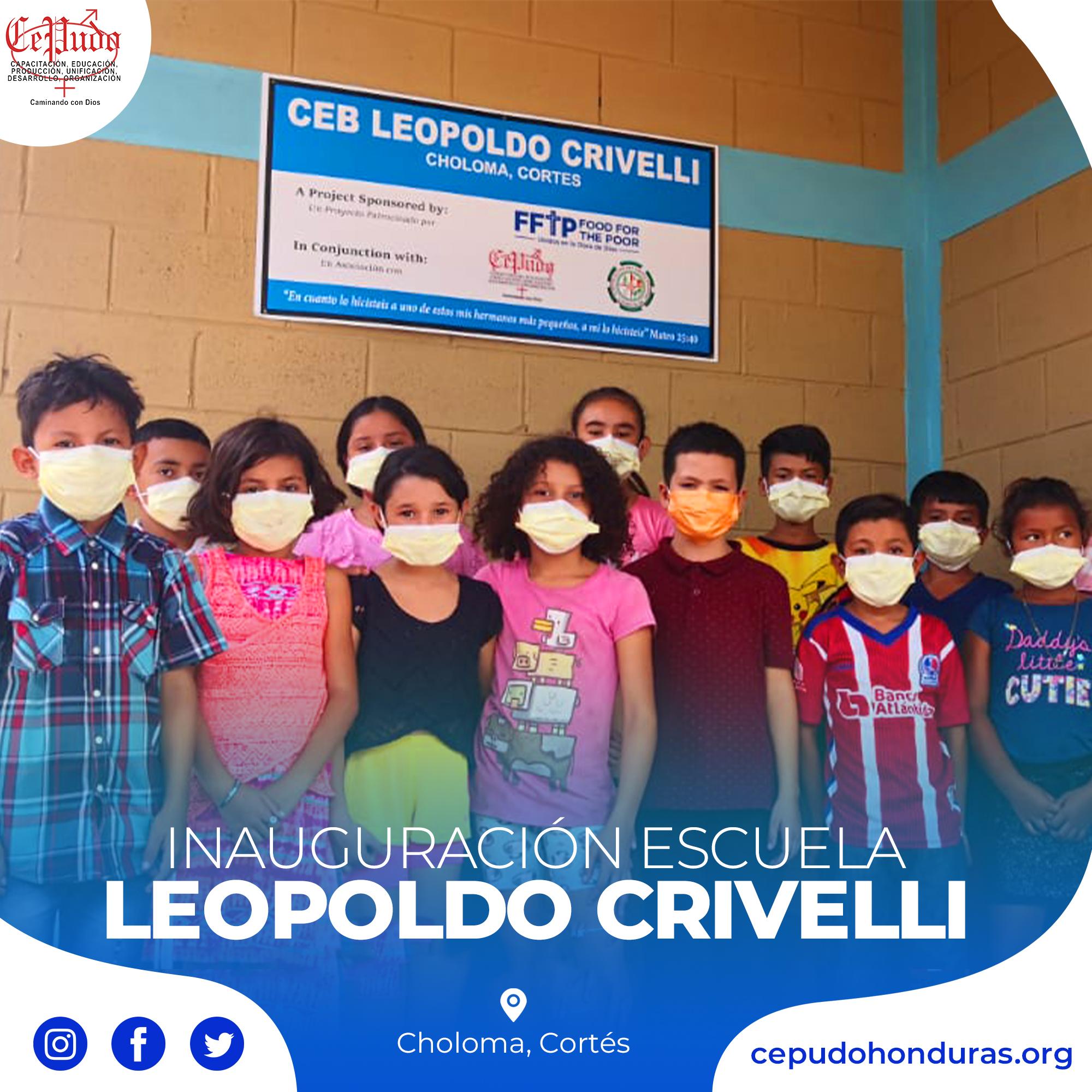 Inauguration of the Leopoldo Crivelli School (Choloma, Cortés)